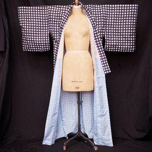 1940s Silk Polka Dot Japanese Kimono